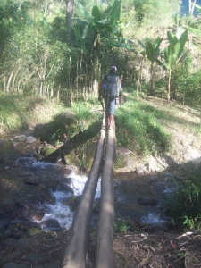 These were the bridges to cross the river around the village. They only got worse from here.